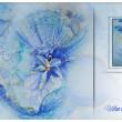 Рисуван Шал - Сини Цветя